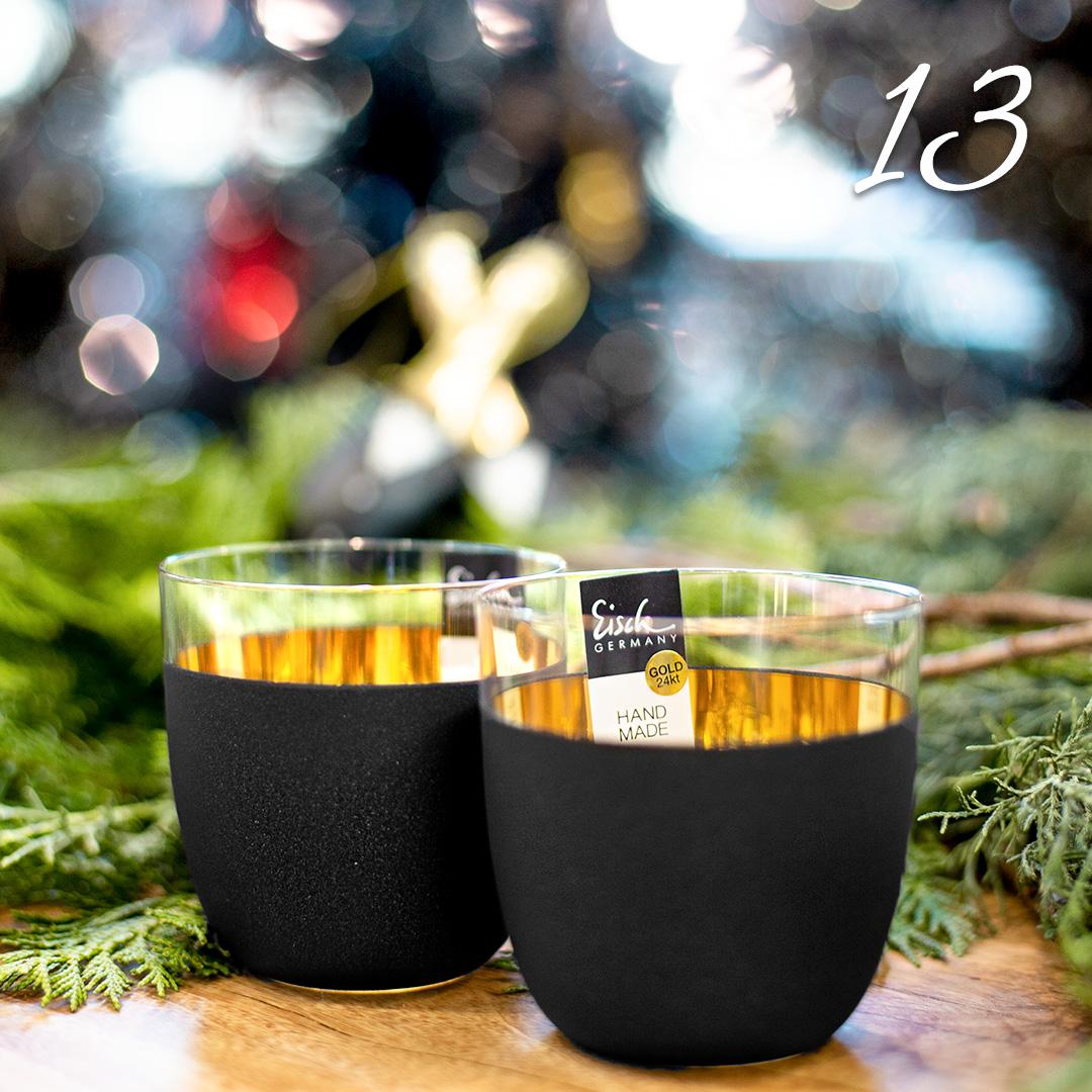 Türchen 13: Champagnerbecher Cosmo gold von Eisch zum Advents-Sonderpreis