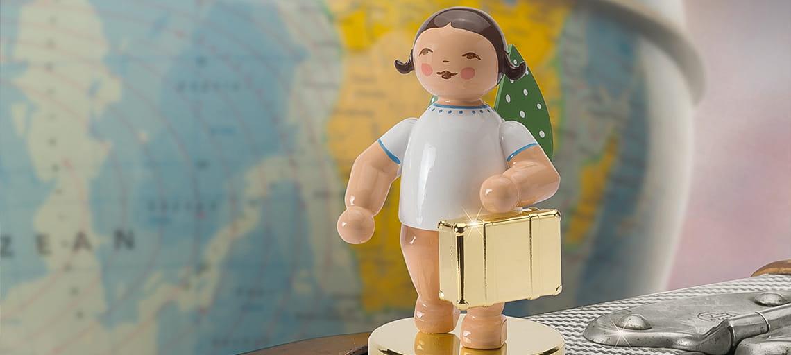 Der Weltenbummler von Wendt & Kühn - Die Jahresfigur 2018 als Goldedition bei Franzen