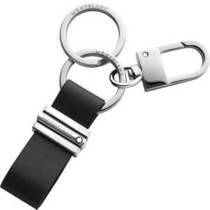 Schlüsselanhänger Schlaufe mit Haken, schwarz
