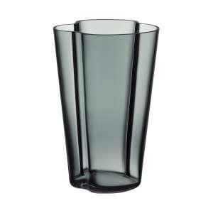 Vase 22 cm dunkelgrau