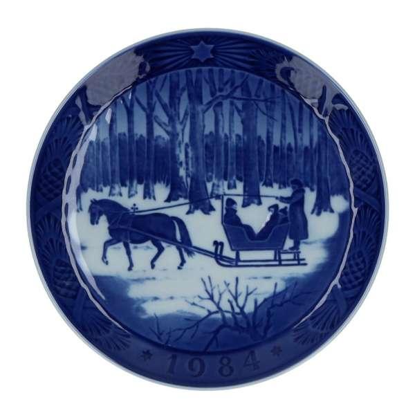 Weihnachtsteller 1984, 18 cm