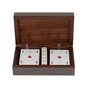 Spielkartenbox, Bellagio rauch, Naht rauch