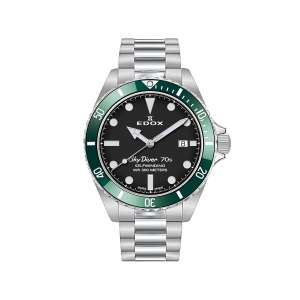Armbanduhr Skydiver Automatik grüne Lünette 42mm