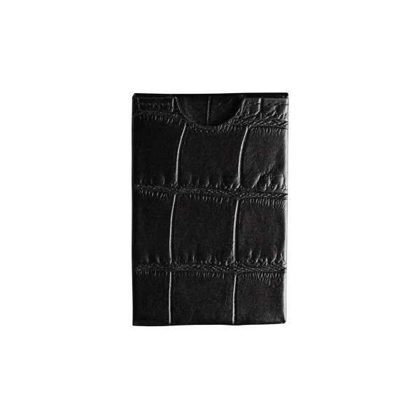 Kreditkartenetui RFID geprägtes Leder schwarz