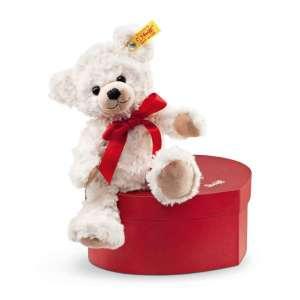 Teddybär Sweetheart i. Herzbox 22 cm, creme
