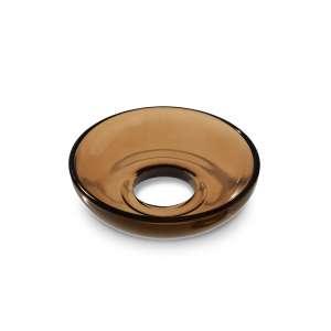 Glasmanschette schalenförmig braun