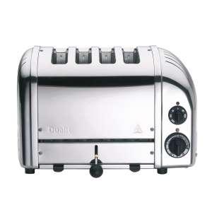 Toaster Vario 4, Aluminium poliert