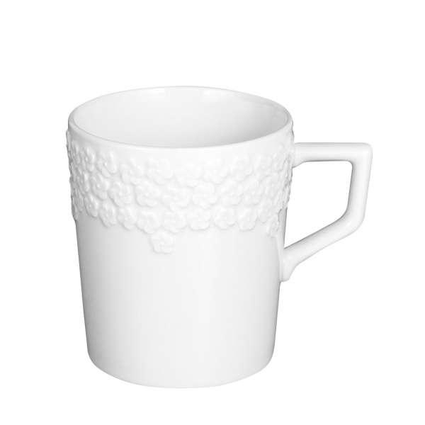 Kaffeebecher 0,25 l Blütenrelief
