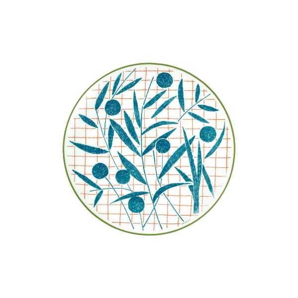Frühstücksteller 21 cm blau