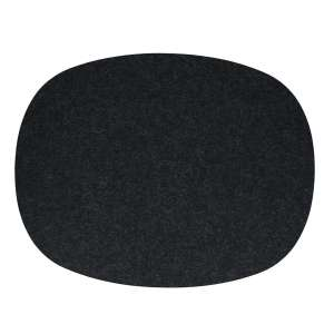 Tischset oval 45x35 cm graphit 08