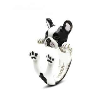 Ring Französische Bulldogge 925/- Sterling Silber M