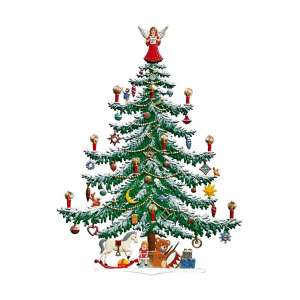 Weihnachtsbaum 28x20 cm