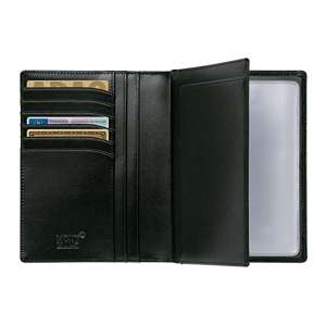 Dokumenten-Etui, Pass, 6 Kartenfächer, schwarz