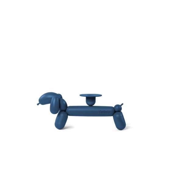 Kerzenständer Can-Dog grau blau
