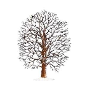 Eiche im Winter 17x13 cm