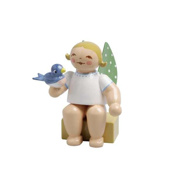 Engel klein, m. Vogel