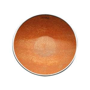 Schale Crocco 34 cm orange versilbert