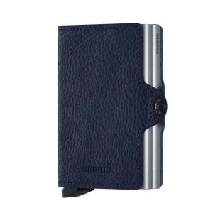 Twinwallet Vegetable Tanned navy/silver