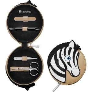 Reißverschluss-Etui 4-tlg, Zebra