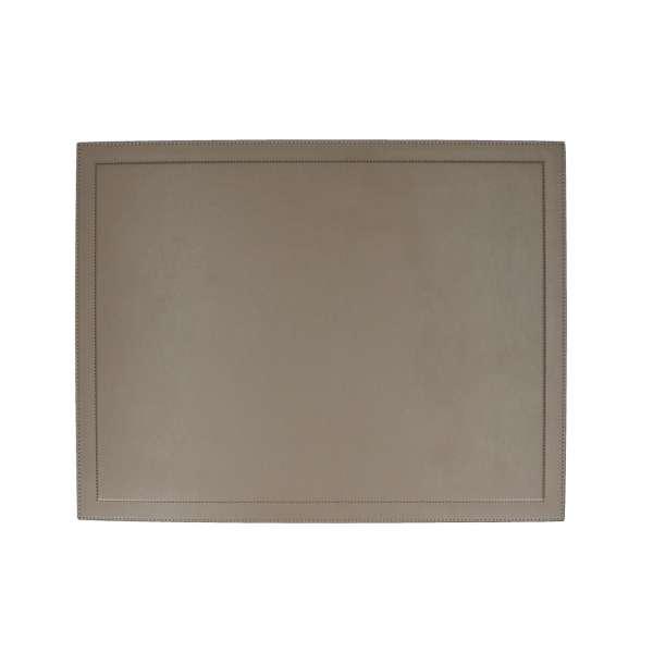 Schreibtischauflage 38,5x50 cm, Nappa mud, Naht mud