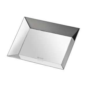 Schale 27,6x15 cm versilbert