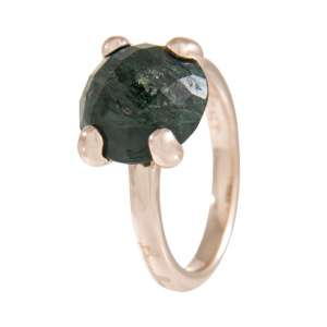 Ring Cocktail Amazonite Bronze plattiert