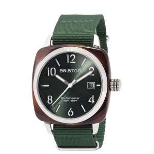 Armbanduhr Clubmaster Classic Datum British grünes Zifferblatt Acetat/Edelstahl