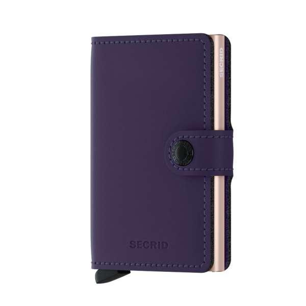 Miniwallet Matte purple/rose