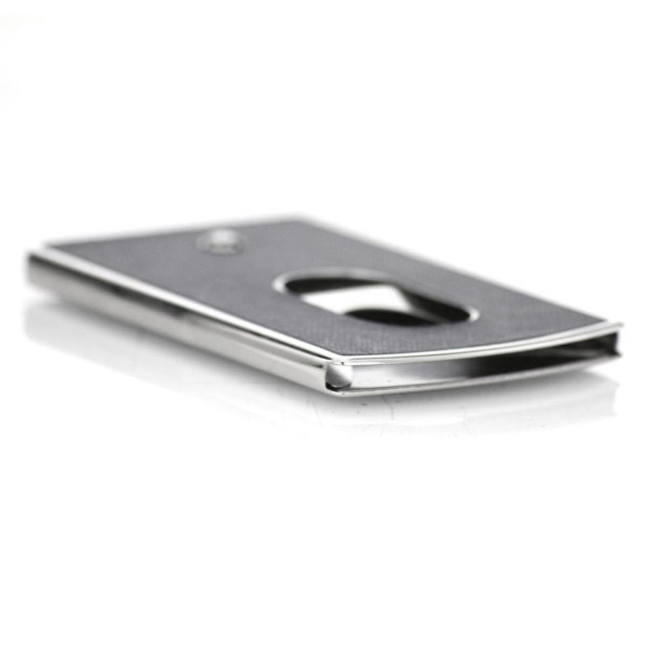 Business Card Holder Hard Shell Sartorial Dark Grey