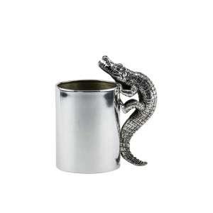 Köcher Krokodil Sterlingsilber