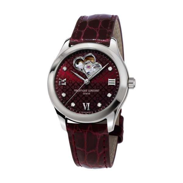 Armbanduhr Heart Beat Ladies burgundy dial