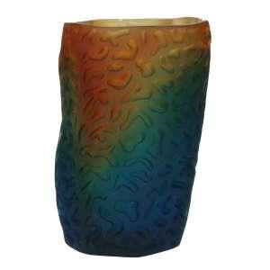 Vase 17 cm nachtblau/bernstein