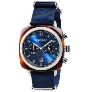 Clubmaster Sport Chronograph Datum blaues Zifferblatt Acetat/Edelstahl