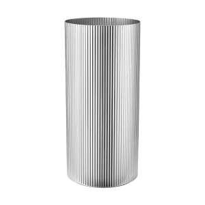 Vase groß 26 cm Edelstahl