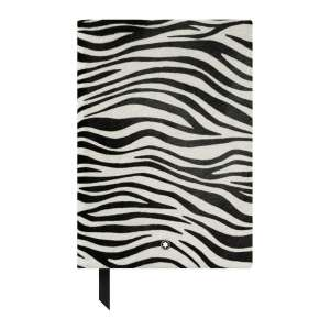 Notizbuch #146 blanko, Animal Print Zebra