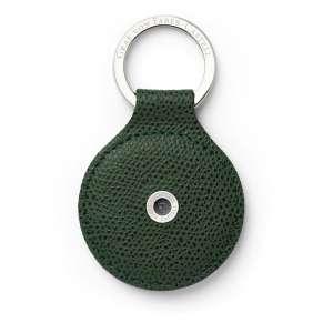 Schlüsselanhänger rund oliv