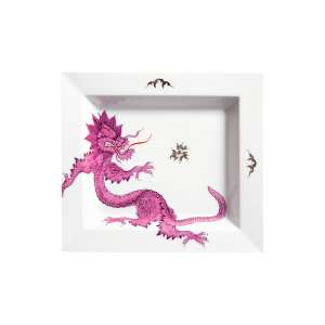 Vide-poche 21x18,5 cm Ming Dragon,purpur