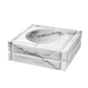 Aschenbecher Marmor weiß