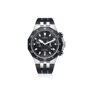 Armbanduhr Delfin Chronograph Edelstahl/schwarz