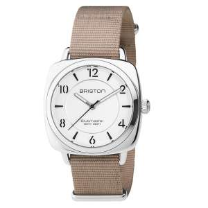 Armbanduhr Clubmaster Chic Silber weißes Zifferblatt Edelstahl