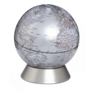 Globus Spardose silber