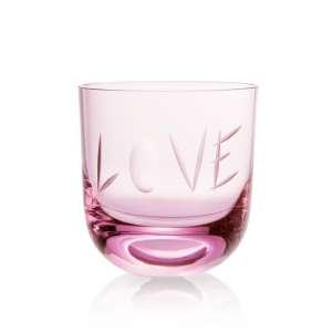 Glas Love II 0,2 l pink