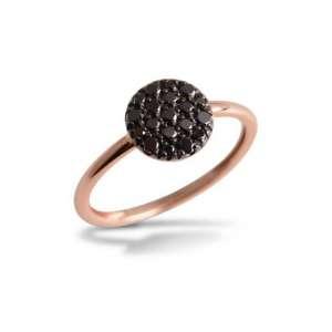 Ring Roségold 750/- schwarze Diamanten 0,35 ct W55