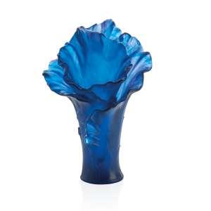 Vase 42 cm dunkelblau
