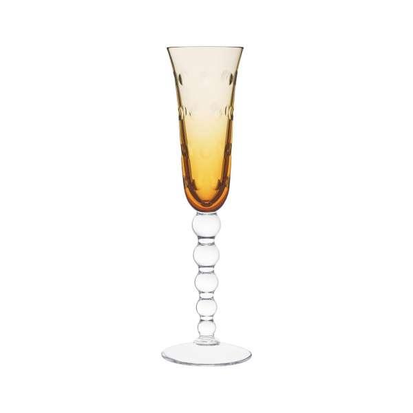 Champagnerflöte 0,10 l bernstein