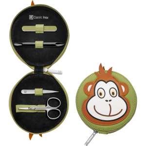 Reißverschluss-Etui 4-tlg, Affe