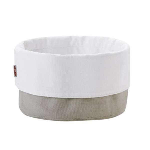 Brottasche groß sand/weiß