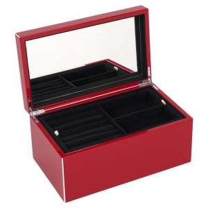 Schmuckbox mittel rot/weiß