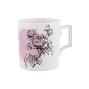 Becher m. Henkel 0,25 l Graphic Rose