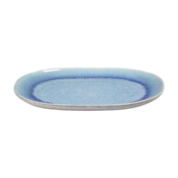 Servierplatte 42x30 cm blau